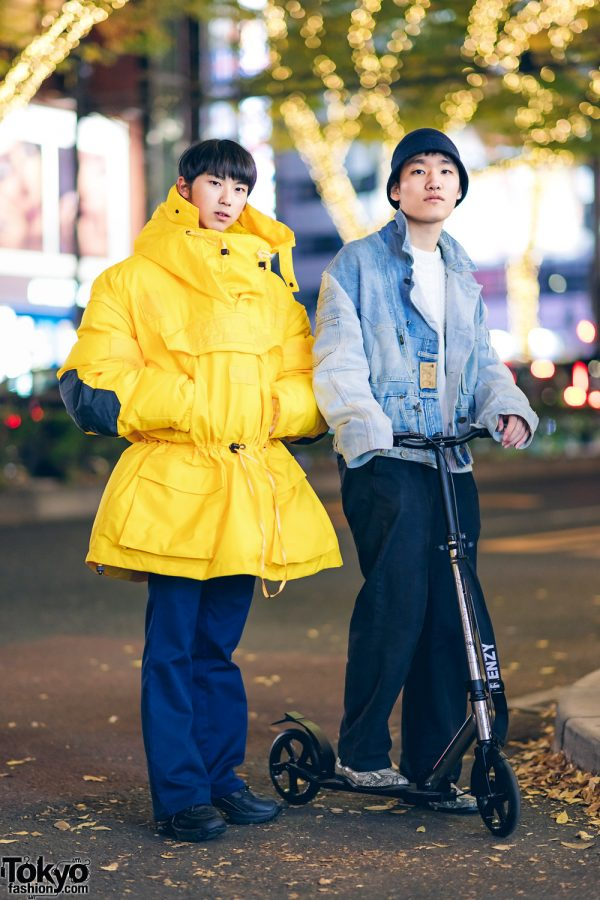 Winter Street Casual Styles in Harajuku w/ Frenzy Scooter, Napa, Lee, Maison Margiela, Polo Ralph Lauren, Z-Coil & Palace Snakeskin Boots