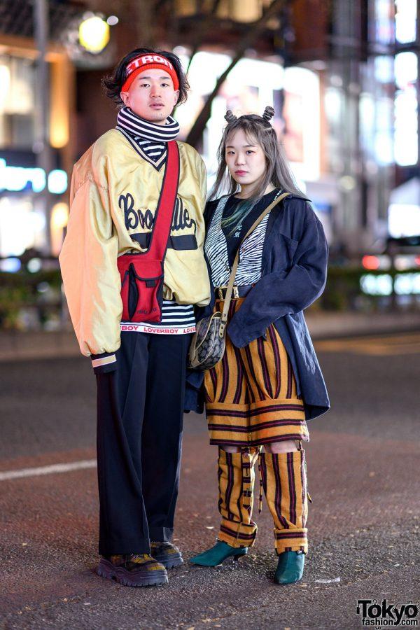 Japanese Eclectic Street Styles w/ Charles Jeffrey Loverboy Turtleneck, MYOB NYC Strap Pants, Jean Paul Gaultier, Eytys, The Four-Eyed, Tanakaya Wear & YSL Crossbody Bag