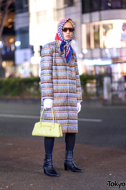 473ee52348 Harajuku Guy s Streetwear Style w  YSL Headscarf