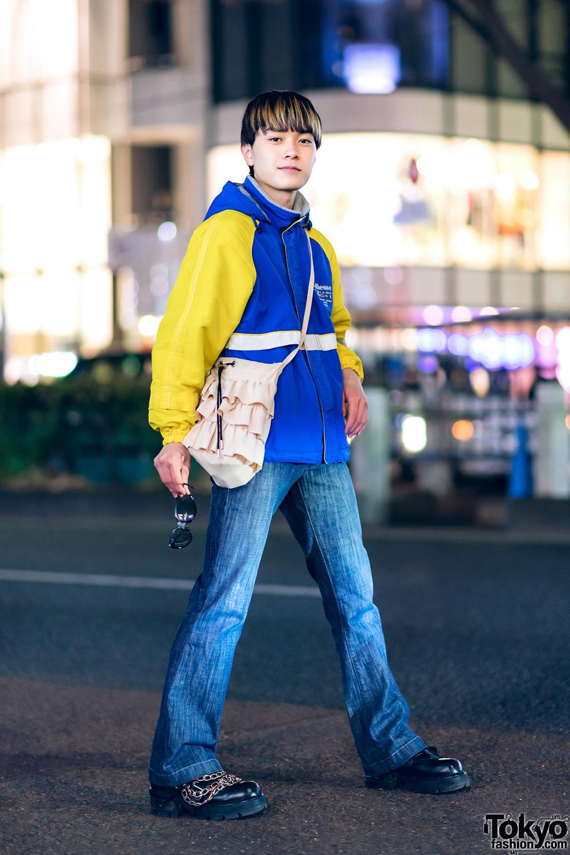 2825de31a90 Casual Tokyo Street Style w  Ellesse Jacket