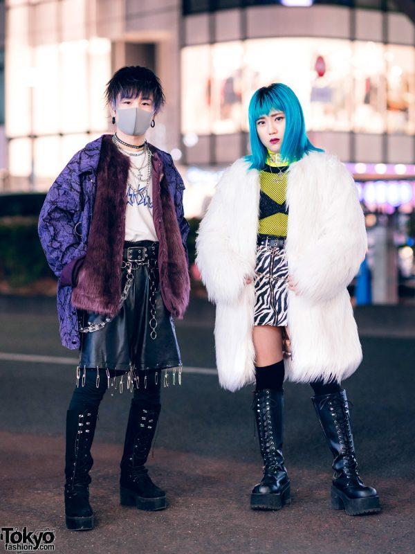 Faux Fur Street Styles in Harajuku w/ Kawi Jamele, DYOG, Never Mind the XU, Kol Me Baby, Faith Tokyo, Gallerie & Oh Pearl