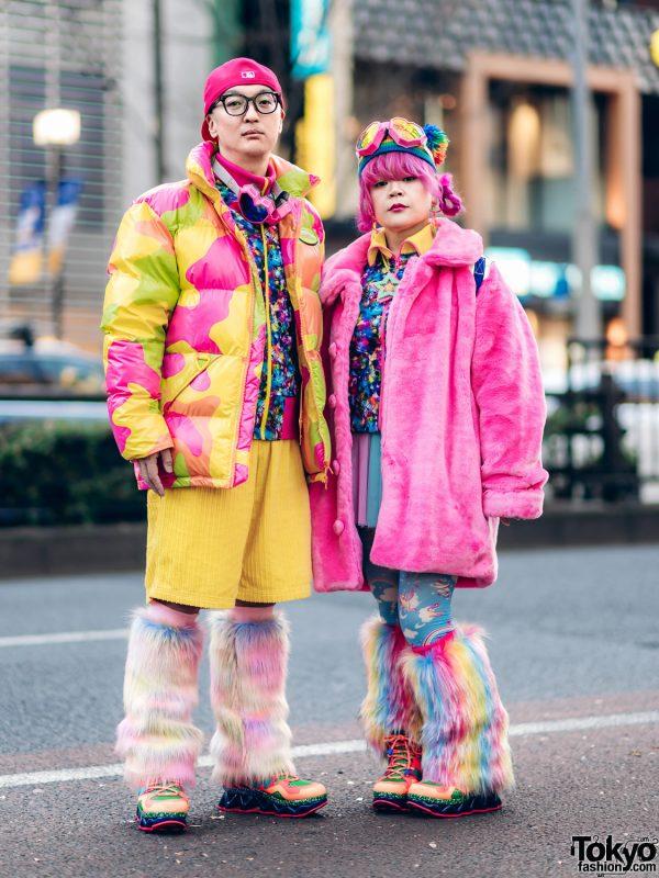 Neon Kawaii Winter Streetwear Styles w/ Escape Heart Goggles, Jeremy Scott x Adidas, 6%DokiDoki, Little Sunny Bite, Rainbow Leg Warmers & Marc By Marc Jacobs Neon Sneakers
