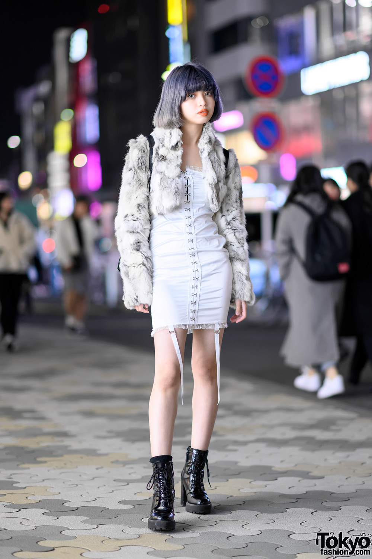 Teen Japanese Fashion Designer W Lavender Bob Vintage