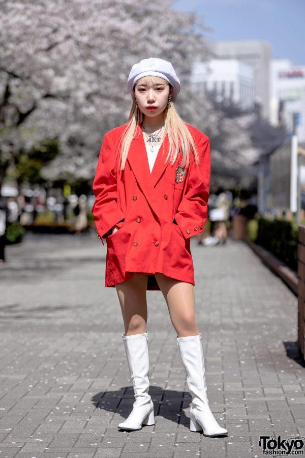Funktique Tokyo Vintage Jacket & White Patent Boots at Bunka Fashion College