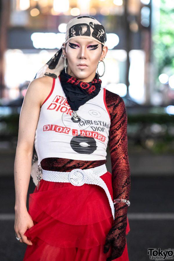 GlamHate Designer in Harajuku Wearing Christian Dior Fashion & Single Sequin Glove 4