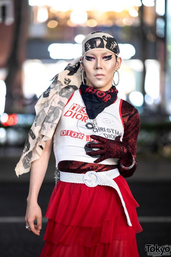 GlamHate Designer in Harajuku Wearing Christian Dior Fashion & Single Sequin Glove 6