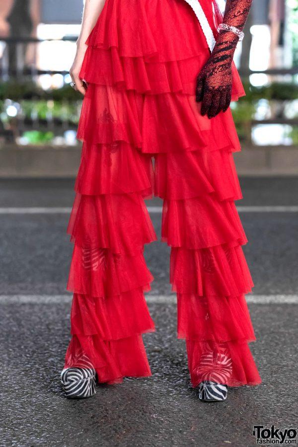 GlamHate Designer in Harajuku Wearing Christian Dior Fashion & Single Sequin Glove 9