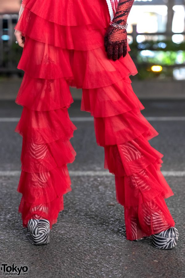 GlamHate Designer in Harajuku Wearing Christian Dior Fashion & Single Sequin Glove 10