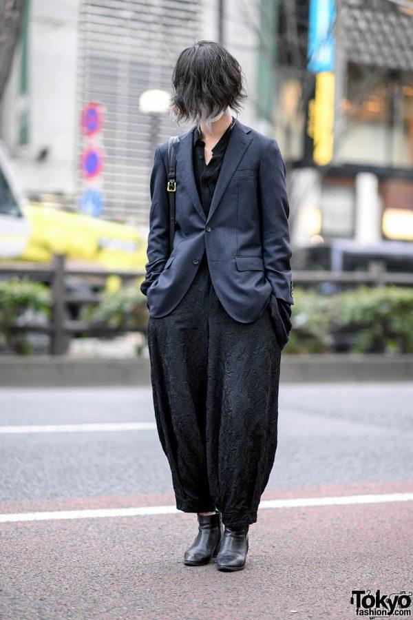 Harajuku Guy w/ Long In Front Hairstyle, Kujaku, Roggy Kei & Vintage Fashion