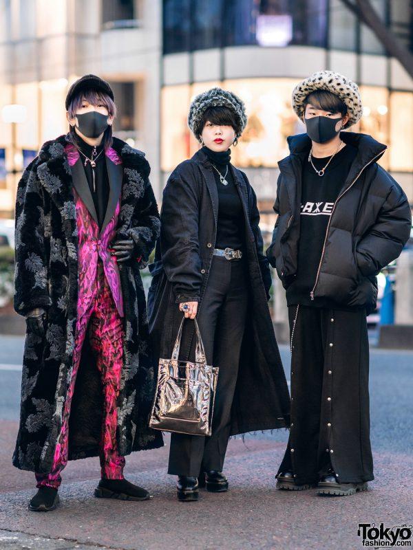 Harajuku Streetwear Styles w/ Furry Hats, Maxi Coats, Balenciaga, Opening Ceremony, Murua, Julius 7, Maison Margiela, Gosha Rubchinskiy, Alexander Wang & Eytys