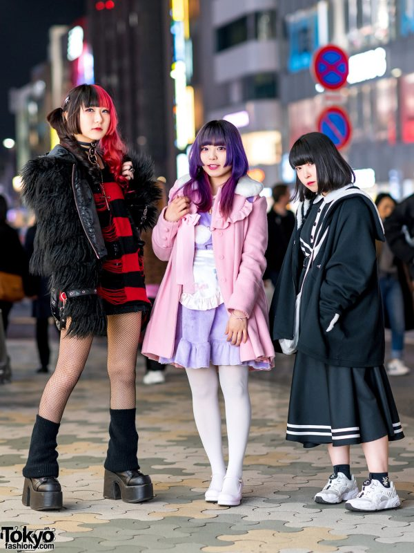 Harajuku Girls Street Styles w/ Killstar, Hellcat Punks, Demonia, Angelic Pretty, Nile Perch, Balmung & Kill Remote