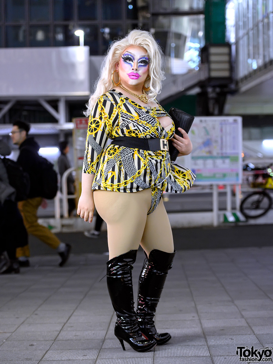 Tokyo Drag Queen on the Street in Shibuya