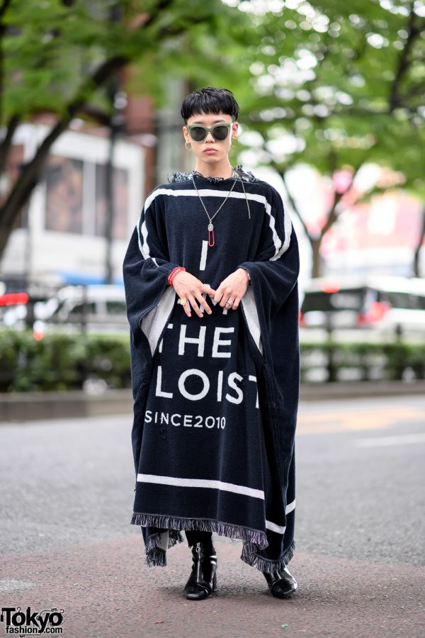 TAKAHIROMIYASHITA The Soloist Blanket Jacket, John Lawrence Sullivan & Breitling Street Style in Harajuku