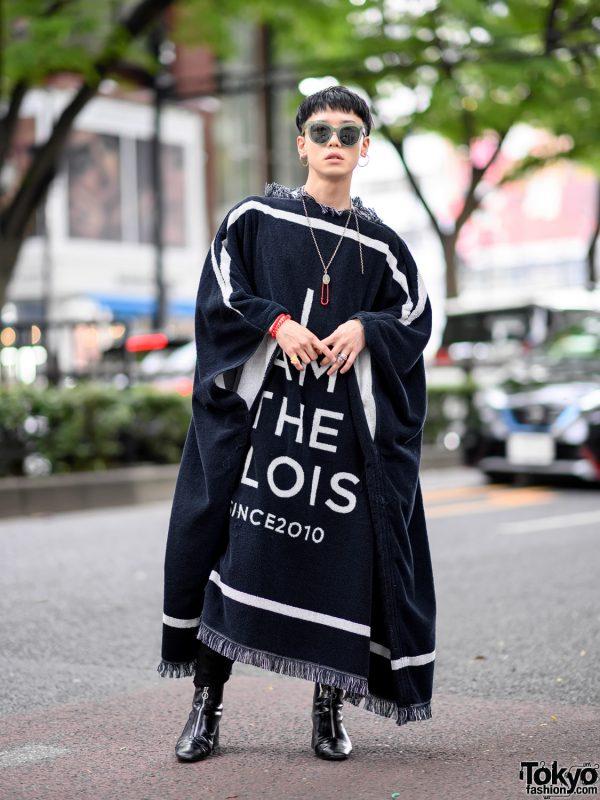TAKAHIROMIYASHITA The Soloist Blanket Jacket, John Lawrence Sullivan & Breitling Street Style in Harajuku 3