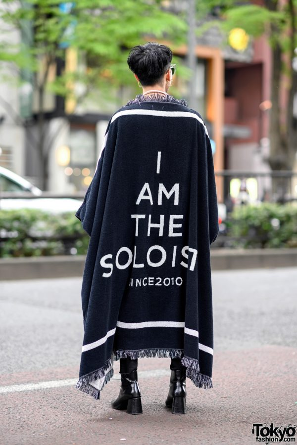 TAKAHIROMIYASHITA The Soloist Blanket Jacket, John Lawrence Sullivan & Breitling Street Style in Harajuku 11