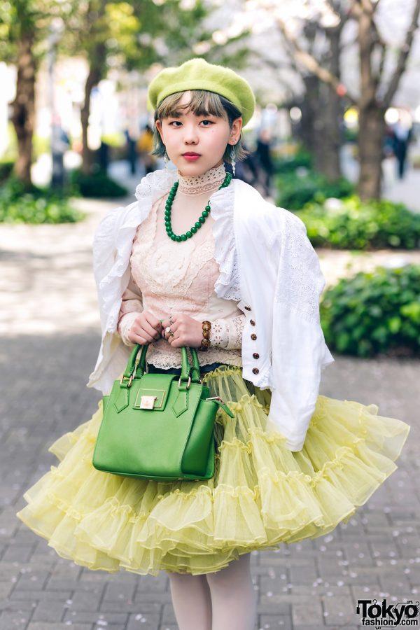 Kimono & Tutu Japanese Street Styles in Tokyo w/ Colorful Hair & Vivienne Westwood Rocking Horse Shoes 8