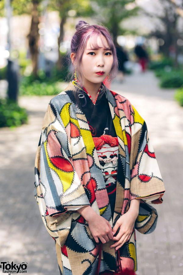 Kimono & Tutu Japanese Street Styles in Tokyo w/ Colorful Hair & Vivienne Westwood Rocking Horse Shoes 4