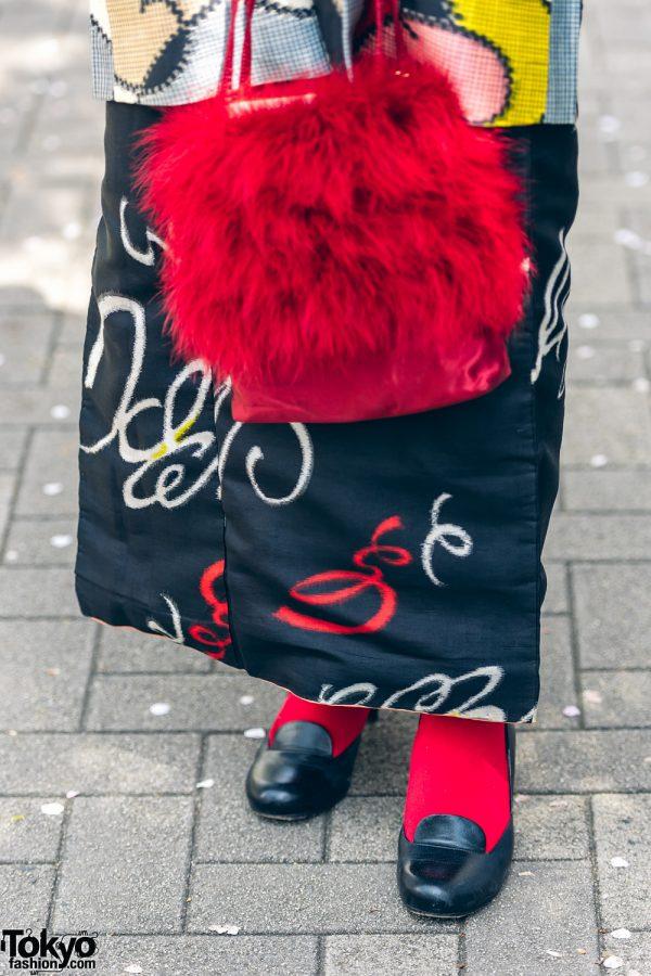 Kimono & Tutu Japanese Street Styles in Tokyo w/ Colorful Hair & Vivienne Westwood Rocking Horse Shoes 7