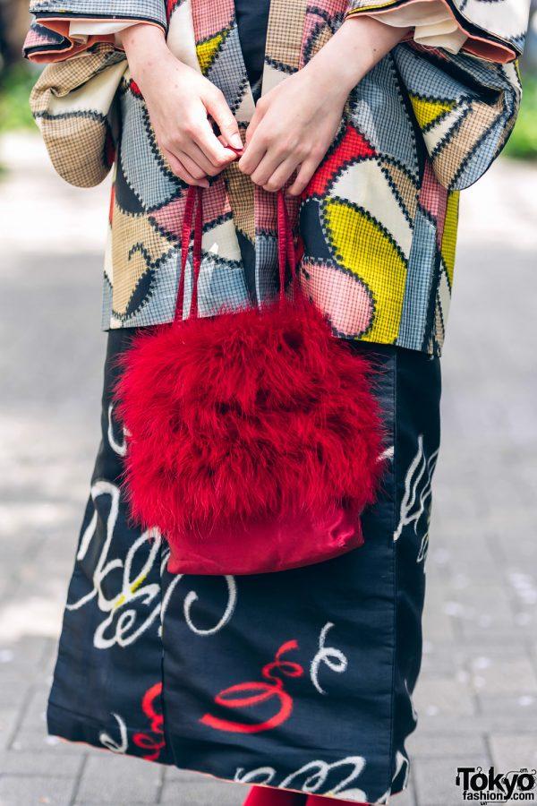 Kimono & Tutu Japanese Street Styles in Tokyo w/ Colorful Hair & Vivienne Westwood Rocking Horse Shoes 6