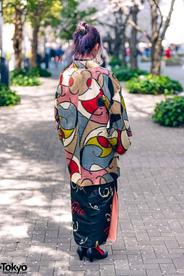 Kimono & Tutu Japanese Street Styles in Tokyo w/ Colorful Hair & Vivienne Westwood Rocking Horse Shoes 5
