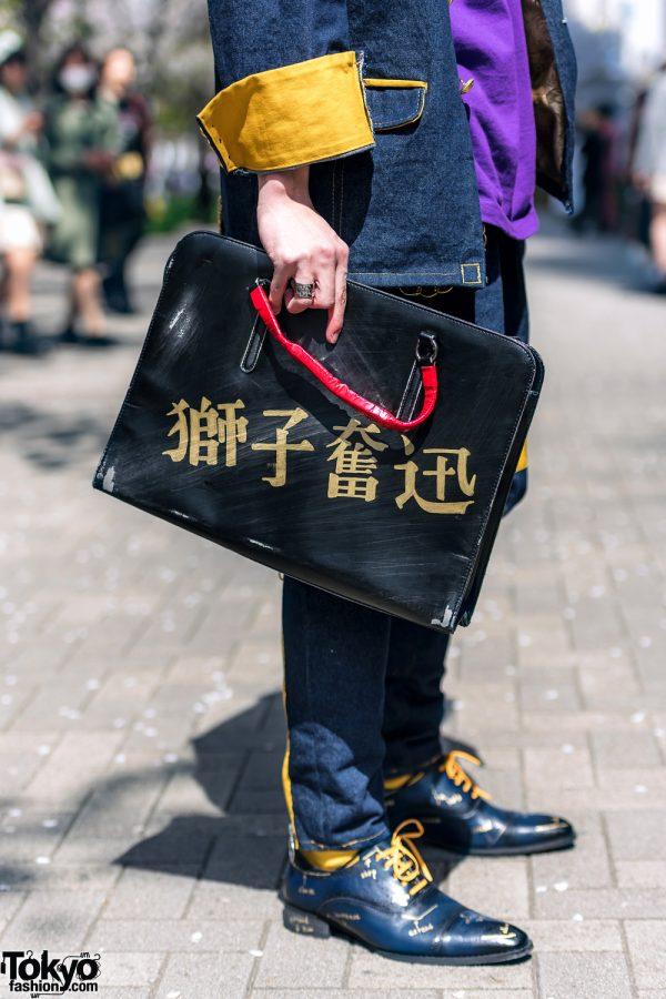 Handmade Japanese Streetwear Styles w/ Face Masks, Kanji Embroidery, Mandarin Collar Denim Jackets, Oh Pearl & Chrome Hearts 9
