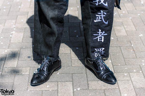 Handmade Japanese Streetwear Styles w/ Face Masks, Kanji Embroidery, Mandarin Collar Denim Jackets, Oh Pearl & Chrome Hearts 15