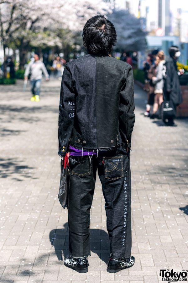 Handmade Japanese Streetwear Styles w/ Face Masks, Kanji Embroidery, Mandarin Collar Denim Jackets, Oh Pearl & Chrome Hearts 13