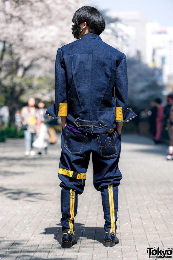 Handmade Japanese Streetwear Styles w/ Face Masks, Kanji Embroidery, Mandarin Collar Denim Jackets, Oh Pearl & Chrome Hearts 6