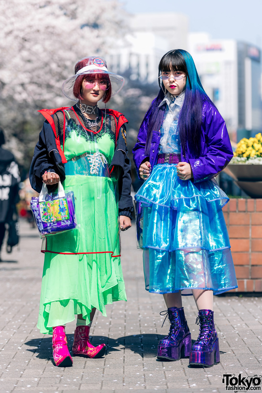 Colorful Tokyo Street Styles w/ Ombre Hair, Kobinai, Romantic Standard, Punk Cake, New York Joe & Never Mind the XU