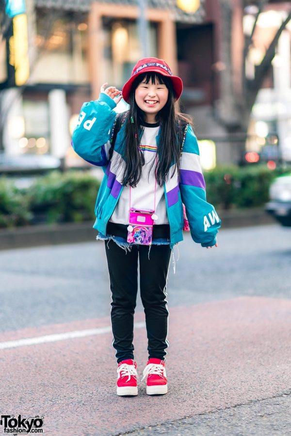 Child Actor in Harajuku Streetwear Style w/ Pink Latte, WEGO, Guess, LeSportsac & Fila