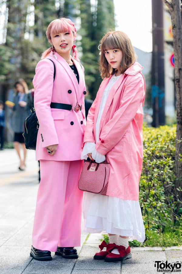 Pink Tokyo Streetwear Styles w/ Metal Vampire Fangs, M.Y.O.B., Pink House, Kobinai & Vivienne Westwood,