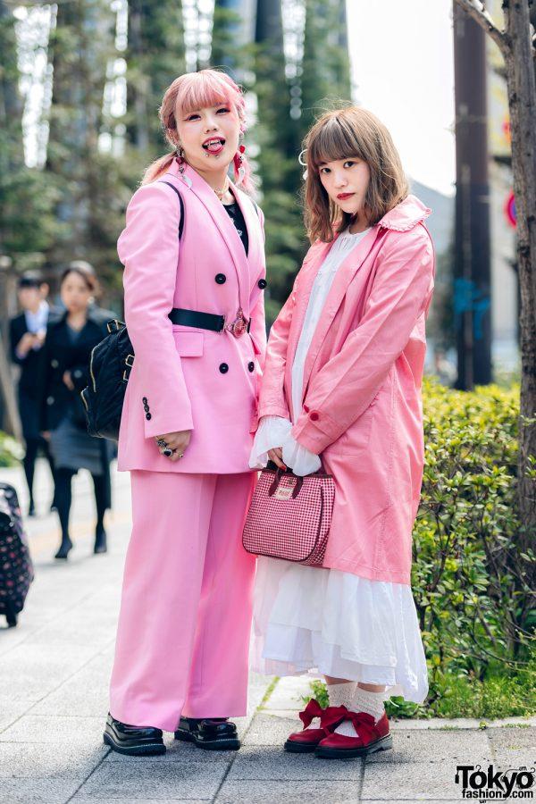 Pink Tokyo Streetwear Styles w/ Metal Vampire Fangs, M.Y.O.B., Pink House, Kobinai & Vivienne Westwood, 3