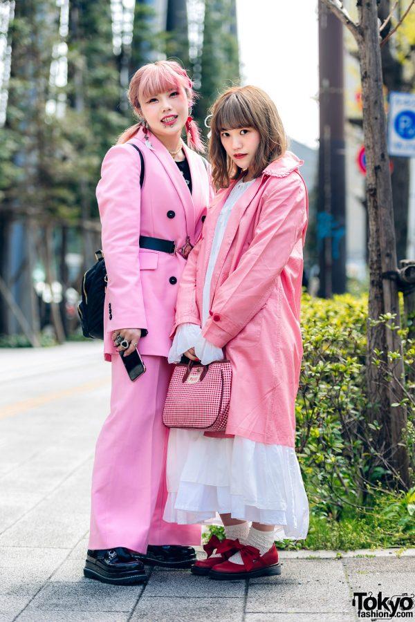Pink Tokyo Streetwear Styles w/ Metal Vampire Fangs, M.Y.O.B., Pink House, Kobinai & Vivienne Westwood, 4