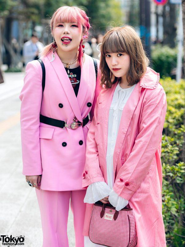 Pink Tokyo Streetwear Styles w/ Metal Vampire Fangs, M.Y.O.B., Pink House, Kobinai & Vivienne Westwood, 5