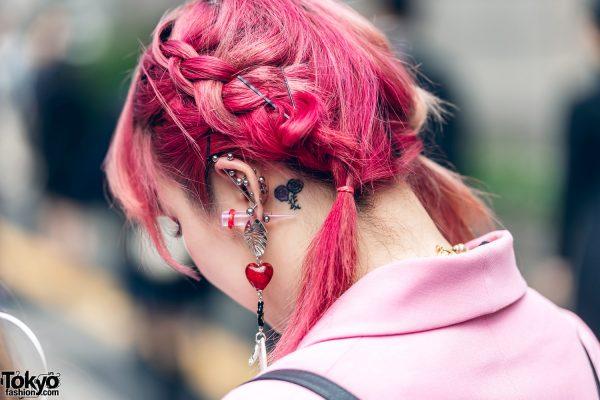 Pink Tokyo Streetwear Styles w/ Metal Vampire Fangs, M.Y.O.B., Pink House, Kobinai & Vivienne Westwood, 6