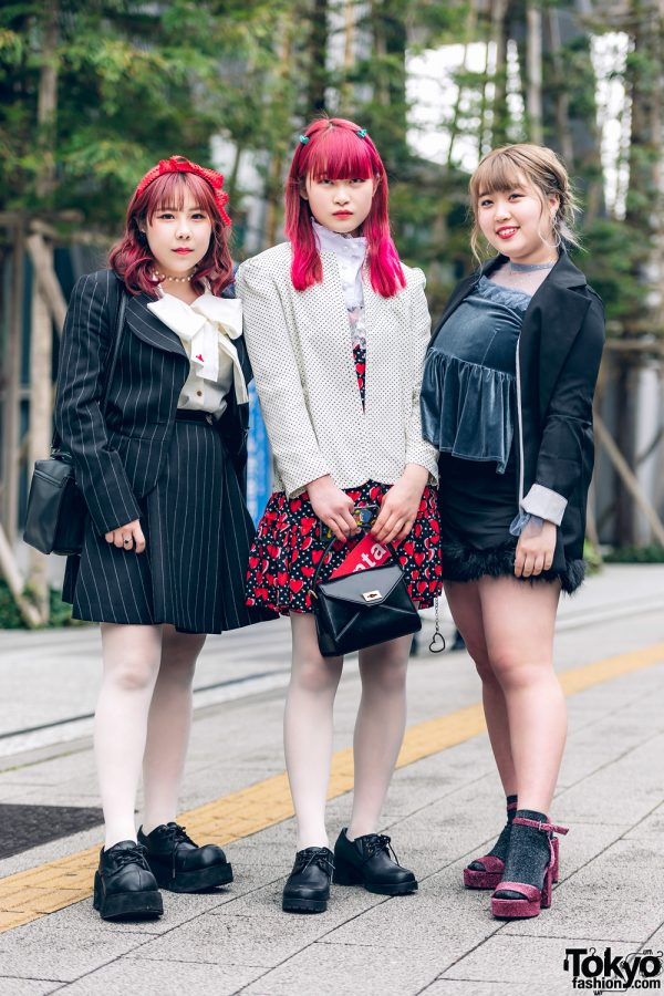 Three Fashion Students in Vivienne Westwood, Demonia, Bubbles, Forever21, Spica & Bershka