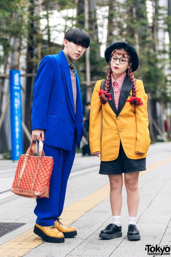 Tokyo Streetwear Styles w/ Twin Braids, Furry Hat, Elcasion Vintage Suit, Gucci Rings, Fjallraven Kanken Backpack & George Cox Creepers 4