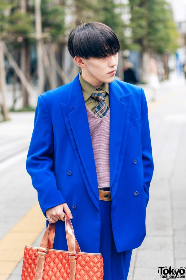 Tokyo Streetwear Styles w/ Twin Braids, Furry Hat, Elcasion Vintage Suit, Gucci Rings, Fjallraven Kanken Backpack & George Cox Creepers 5