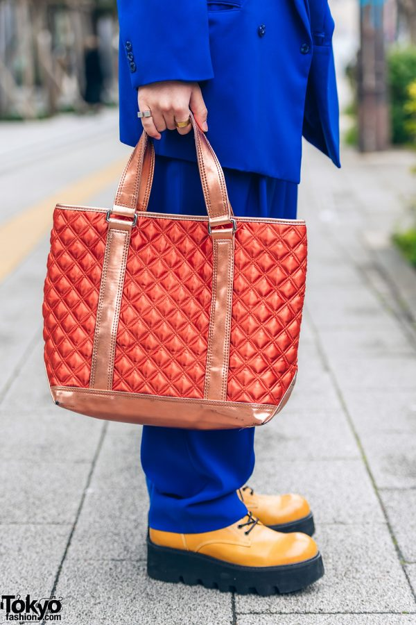 Tokyo Streetwear Styles w/ Twin Braids, Furry Hat, Elcasion Vintage Suit, Gucci Rings, Fjallraven Kanken Backpack & George Cox Creepers 6