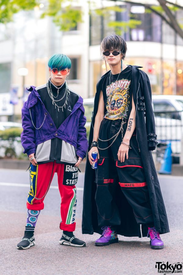Harajuku Guys Street Styles w/ Broke City Gold Denim Jacket, Patched Pants, Tripp NYC Coat, Marithe + Francois Girbaud & Dr. Martens x New Order Boots 3