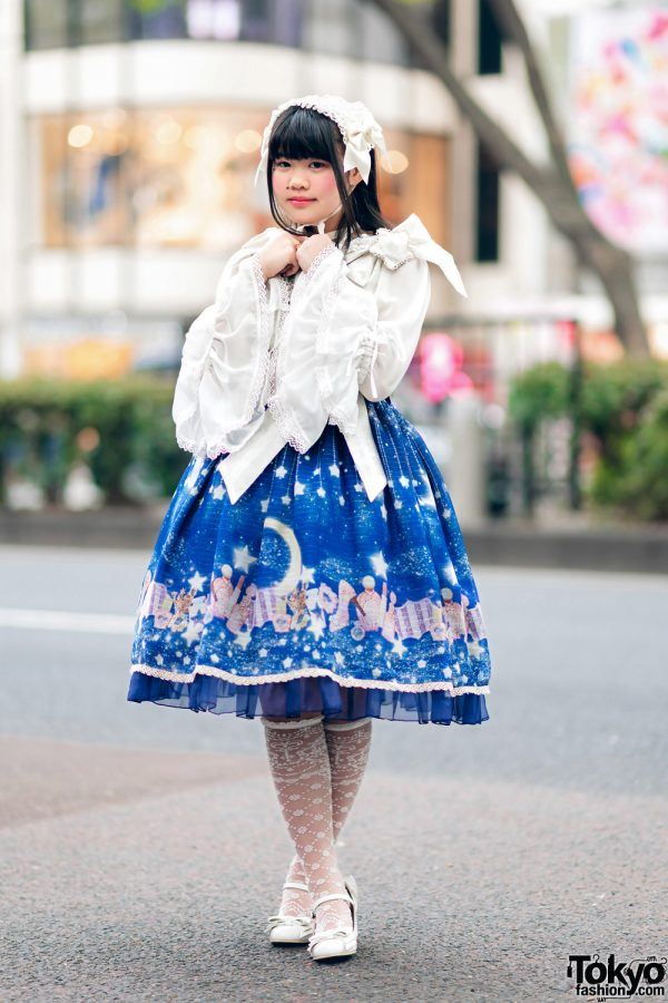 Baby, The Stars Shine Bright Lolita Street Fashion On The Street in Harajuku