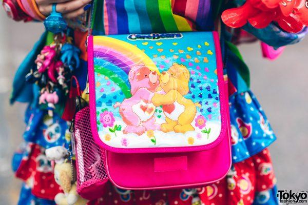 Rainbow Decora Style in Harajuku w/ Handmade Clothing, Tiered Skirt, Tomoe Shinohara Doll, Furry Leg Warmers, Care Bears, Sailor Moon & Decora Accessories 13