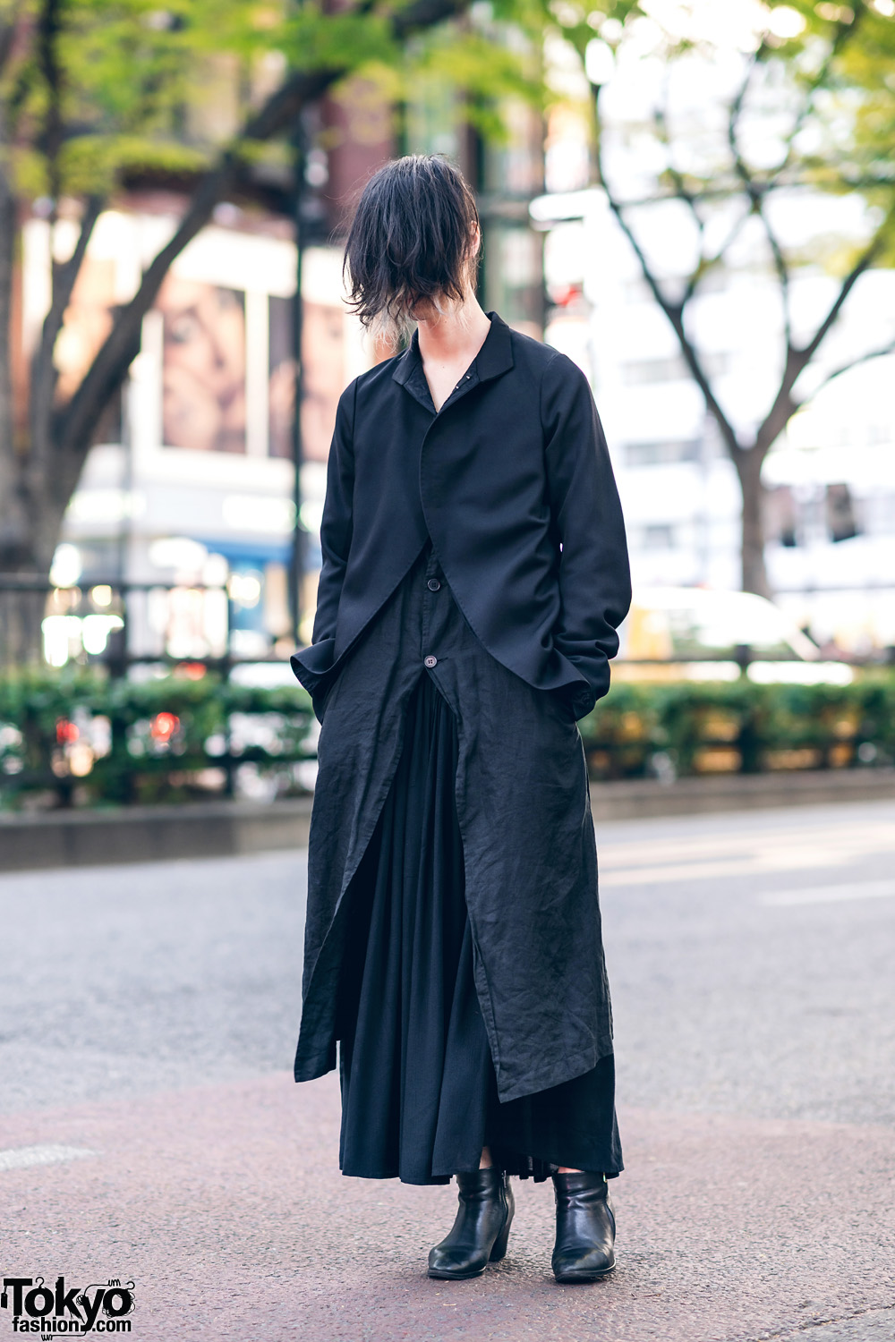 Minimalist Fashion & Long Bangs Hairstyle in Tokyo w/ Marc Le