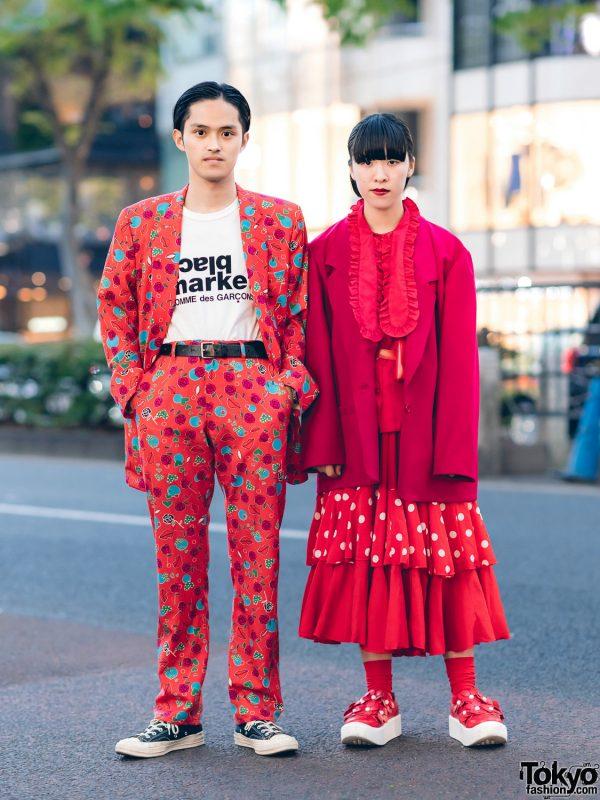 "Comme Des Garcons Street Styles in Tokyo w/ Homme Plus 2007 ""My Way"" Suit, CDG x Black Market, CDG x Converse, Polka Dot Skirt & Tokyo Bopper"