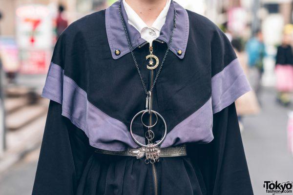 Japanese Streetwear Styles w/ Pink Hair, Codona De Moda, Oh Pearl Striped Top, Kobinai, Milkfed & White Demonia Platforms 10