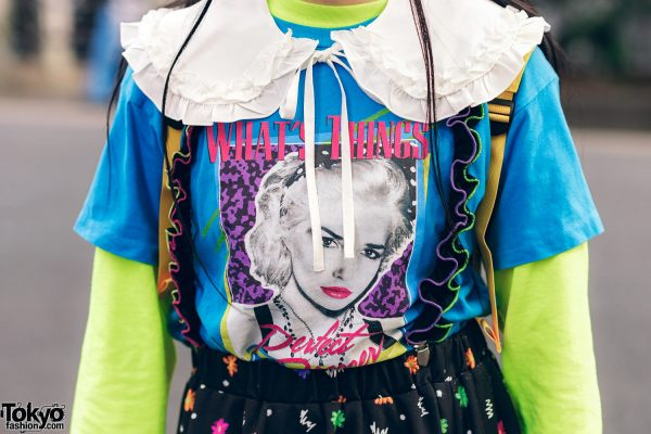 Harajuku Girls Streetwear Styles w/ Twin Tails, Peco Club, WEGO Ruffle Collar, Suspenders, Style Nanda Floral Dress & Yosuke Colorblock Boots 5