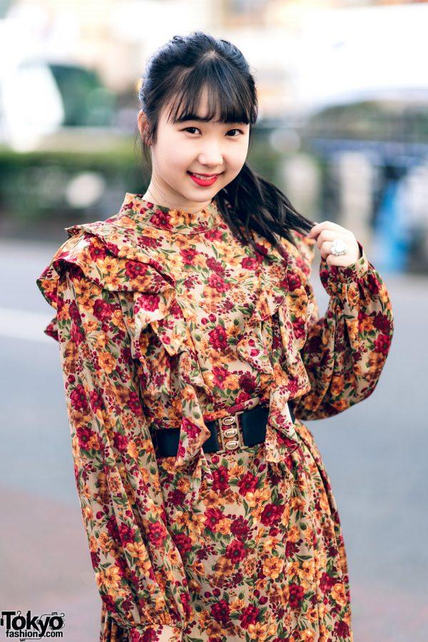 Harajuku Girls Streetwear Styles w/ Twin Tails, Peco Club, WEGO Ruffle Collar, Suspenders, Style Nanda Floral Dress & Yosuke Colorblock Boots 8