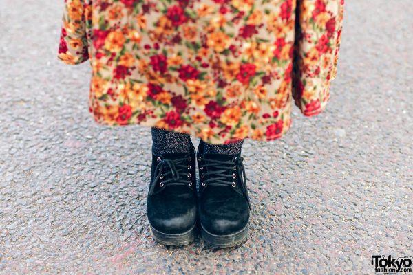 Harajuku Girls Streetwear Styles w/ Twin Tails, Peco Club, WEGO Ruffle Collar, Suspenders, Style Nanda Floral Dress & Yosuke Colorblock Boots 10