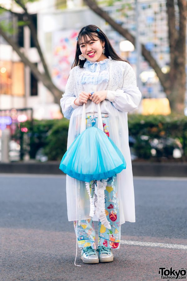 Kawaii Harajuku Girl Squad Street Styles w/ Pink Hair, Sheer Pastel Fashion, San To Nibun No Ichi, Kinji Resale & Cabbage Patch Doll 22
