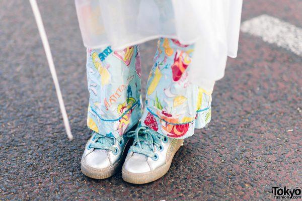 Kawaii Harajuku Girl Squad Street Styles w/ Pink Hair, Sheer Pastel Fashion, San To Nibun No Ichi, Kinji Resale & Cabbage Patch Doll 25